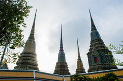 Wat Pho is located in Bangkok, Thailand. Stock Image