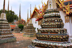 Wat Pho lying buddha temple in Bangkok, Thailand - details royalty free stock photo