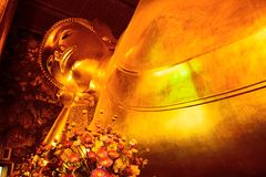 Wat Pho. Is named after a monastery in India where Buddha is believed to have lived.[5] Prior to the temple's founding, the site was a centre of education for Royalty Free Stock Photography