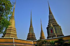 Wat Pho. Is named after a monastery in India where Buddha is believed to have lived.[5] Prior to the temple's founding, the site was a centre of education for Royalty Free Stock Image