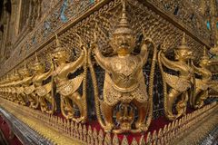 Wat Pho temple. The Wat Pho next to the Grand Palace is the oldest temple in Bangkok royalty free stock photography