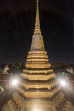 Wat Pho At Night a Bangkok immagine stock