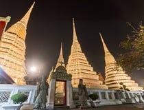 Wat Pho At Night a Bangkok Immagine Stock Libera da Diritti