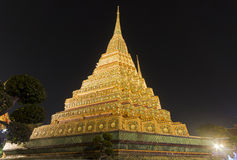 Wat Pho At Night a Bangkok fotografie stock libere da diritti