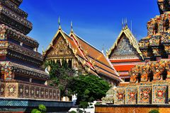 Wat Pho o tempio del Buddha adagiantesi a Bangkok, Tailandia Immagini Stock