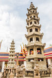 Wat Pho pagoda in Bangkok . Stock Images