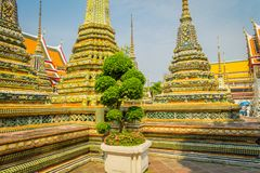Wat Pho or Wat Phra Chetuphon, `Wat` means temple in Thai. The temple is one of Bangkok`s most famous tourist sites in. Thailand Royalty Free Stock Image