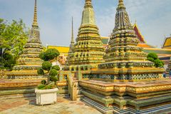 Wat Pho or Wat Phra Chetuphon, `Wat` means temple in Thai. The temple is one of Bangkok`s most famous tourist sites in. Thailand Stock Photo