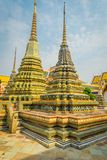 Wat Pho or Wat Phra Chetuphon, `Wat` means temple in Thai. The temple is one of Bangkok`s most famous tourist sites in. Thailand Stock Photos