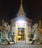 Wat Pho Przy nocą w Bangkok Zdjęcia Stock