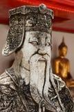 Wat Pho stone guardian face close up, Thailand Stock Photo