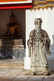 Wat Pho stone guardian, Thailand Royalty Free Stock Photo