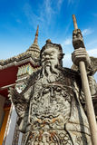 Wat Pho stone guardian, Thailand Royalty Free Stock Images