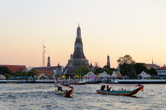 Wat Pho Temple and Sunset Sky Royalty Free Stock Photography