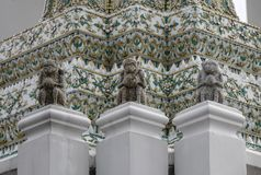 Wat Pho-tempel in Bangkok, Thailand royalty-vrije stock foto