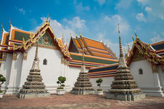 Wat Pho tempel, Bangkok Thailand Arkivfoto