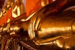 Wat Pho, tempiale del Buddha adagiantesi Fotografie Stock