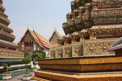 Wat Pho Temple - Bangkok. Wat Pho is one of the most important temples in Bangkok. It holds the largest reclining Buddha statue and it's one of the most Royalty Free Stock Photos
