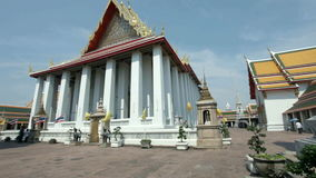 Wat Pho temple stock footage