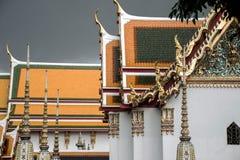 Wat Pho Temple Bangkok Thailand-architectuur 2 Royalty-vrije Stock Foto's