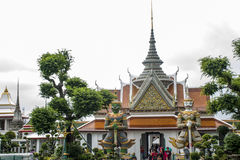 Wat Pho Temple Bangkok Thailand-architectuur 10 Stock Foto's