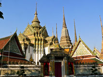 Wat Pho. Is a temple in Bangkok Thailand. It is a royal's temple. The highlights of this temple is the biggest reclining Buddha  statue in the church that Stock Image