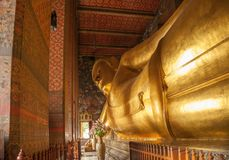 Wat Pho temple - Bangkok. Wat Pho Temple, known also as the Temple of the Reclining Buddha, is a Buddhist temple complex in the Phra Nakhon District, Bangkok stock images