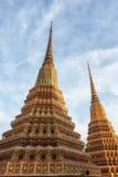 Wat Pho Temple Details Arkivfoto