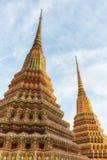 Wat Pho Temple Details Arkivfoton