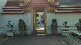 Wat Pho Temple Interior in Bangkok, Thailand Lizenzfreie Stockbilder