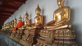 Wat Pho Temple Interior in Bangkok, Thailand Stockfotos
