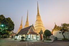 Wat Pho Temple at night of Bangkok, Thailand Royalty Free Stock Images