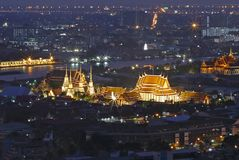 Wat Pho Temple. At night scene royalty free stock images