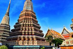 Wat Pho or Temple of the Reclining Buddha in Bangkok, Thailand Royalty Free Stock Photo