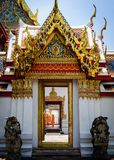 Wat Pho, the Temple of the Reclining Buddha in Bangkok, Thailand Royalty Free Stock Photos