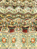 Wat Pho, Temple of the Reclining Buddha. Pattern Royalty Free Stock Photos