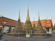 Wat Pho, the Temple of the Reclining Buddha stock photography