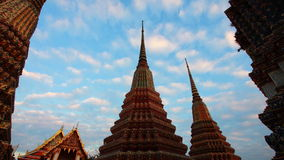Wat Pho temple timelapse Royalty Free Stock Photos