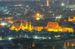 Wat Pho temple at twilight, Bangkok, Thailand Stock Image