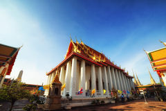 Wat Pho the thai temple in Bangkok, Thailand Royalty Free Stock Photos