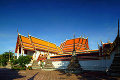 Wat Pho the thai temple in Bangkok, Thailand Royalty Free Stock Image