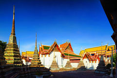 Wat Pho the thai temple in Bangkok, Thailand Royalty Free Stock Images