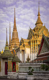 Wat-pho: thai temple_2. Colorful and elegance thai temple in bangkok Stock Images