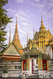 Wat-pho: thai temple_1. Colorful and elegance thai temple in bangkok Stock Photography