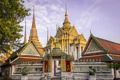 Wat-pho: thai temple_3. Colorful and elegance thai temple in bangkok Stock Image