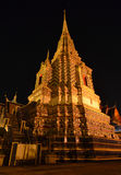 Wat Pho twilight in the evening light in Bangkok, Thailand Stock Photography