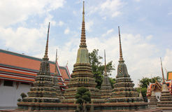 Wat Pho or Wat Phra Chettuphon Wimon Mangkhlaram R. Atchaworamahawihan or Temple of the Reclining Buddha, one of famous landmarks in Bangkok, Thailand, well Stock Photography