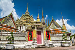 Wat Pho (Wat Phra Chetuphon),斜倚的菩萨的寺庙 曼谷泰国 库存图片