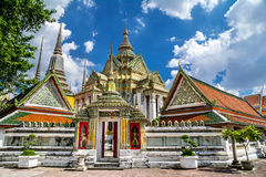 Wat Pho Wat Phra Chetuphon tempel, Bangkok Thailand Arkivbilder