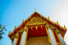 Wat Pho or Wat Phra Chetuphon,the Temple of the Reclining Buddha in Bangkok of Thailand.A fragment of decoration Royalty Free Stock Photography